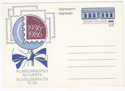 Postikortti/Postkort: Filateliapalvelu 50 Vuotta / Filateliservicen 50 Ar - 1,70 Over 1,60 - Finland