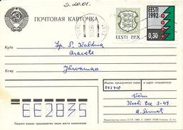 Estonia Chess Card 18-1-1993 - Estland