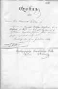 CARLSBAD - STOCKACH → 1836 GROSSHERZOGLICHE AMORTISATIONS-KASSE ►QUITTUNG über 1000 GULDEN◄ - Allemagne
