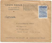 BELGIQUE LETTRE DE BRUXELLES POUR LA FRANCE 1949 - Marcophilie