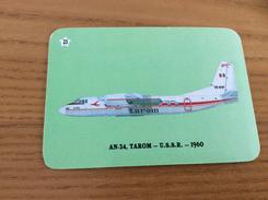 "Calendrier 1993 PORTUGAL ""Avion N°23, AN-24, TAROM - USSR 1960 / JB MIRANDA - VALONGO"" (7x10cm) Chromo - Calendarios"
