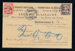 Schweiz-alte Firmenkarte   (g6214 )  Siehe Bild - 1882-1906 Coat Of Arms, Standing Helvetia & UPU
