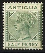 Antigua British Colony 1879 Key Plate Half Penny Stamp Yvert 10 - 1858-1960 Colonia Británica