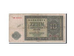 République Démocratique Allemande, 10 Deutsche Mark, 1948, KM:12a, Undated, B+ - [ 5] Ocupación De Los Aliados