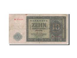 République Démocratique Allemande, 10 Deutsche Mark, 1948, KM:12a, Undated, B+ - [ 5] 1945-1949 : Occupation Des Alliés