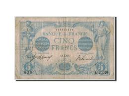 France, 5 Francs Bleu, 1916-12-02, KM:70, Fayette:2.46, TB+ - 1871-1952 Anciens Francs Circulés Au XXème