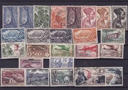 AEF :Y&T : Lot De 25 Timbres  Oblitérés,*,** - A.E.F. (1936-1958)