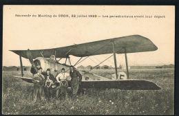 BRON -69-  AVIATION Souvenir Du Meeting 22 Juillet 1923- Les Parachutistes Avant Leur Départ- CPA - Paypal Sans Frais - Bron