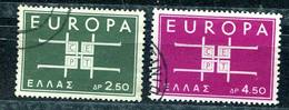 1963  - Grèce - YT No. 799 - 800 - EUROPA - Grèce