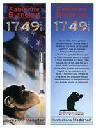 Marque-page - 1749 Miles, Par Fabienne Blanchut - 5,2cm X 14,8cm - Thèmes Singe Drapeau Fusée Espace - Marque-Pages