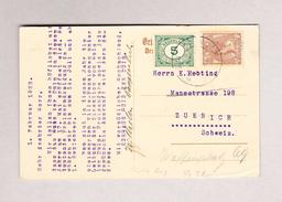 NL NOORDWIJK 1.2.1923 Künstlerkarte V.B. (Motiv Kurhausin Noordwijk) Nach Zürich - 1891-1948 (Wilhelmine)
