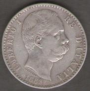 ITALIA 2 LIRE 1883 UMBERTO I AG SILVER - 1861-1946 : Regno