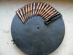 Chargeur DP28 Et 15 Cartouches Ww2 Neutralisées - Armes Neutralisées