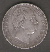 ITALIA 2 LIRE 1887 UMBERTO I AG SILVER - 1861-1946 : Regno