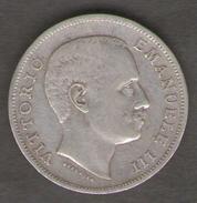 ITALIA 1 LIRA 1902 VITTORIO EMANUELE III AG SILVER - 1861-1946 : Regno