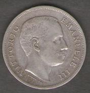 ITALIA 1 LIRA 1906 VITTORIO EMANUELE III AG SILVER - 1861-1946 : Regno