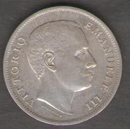 ITALIA 1 LIRA 1907 VITTORIO EMANUELE III AG SILVER - 1861-1946 : Regno