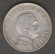 ITALIA 1 LIRA 1910 VITTORIO EMANUELE III AG SILVER - 1861-1946 : Regno