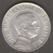 ITALIA 1 LIRA 1912 VITTORIO EMANUELE III AG SILVER - 1861-1946 : Regno