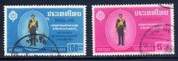 Thailand  Sc#  419-420  Used  Complete Set  1963 - Tailandia