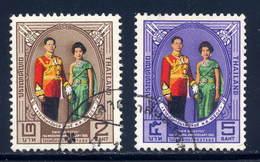 Thailand  Sc#  428-429  Used  Complete Set  1964 - Thailand