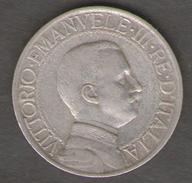 ITALIA 1 LIRA 1909 VITTORIO EMANUELE III AG SILVER - 1861-1946 : Regno