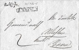 VORPHILATELIE → 1839 Brief Mit Langstempel GÜMMINEN/BE  ►Winkler-Nr.796/5◄ - Suisse