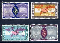 Thailand  Sc#  431-434  Used  Complete Set  1965 - Thailand