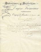 DOCUMENT TEXTILE VESTIMENTAIRE  BONNETERIE ET BRODERIES EUGENE FREMEAUX ORIGNY SAINTE BENOITE 1910 - Textilos & Vestidos