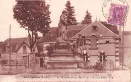 MANTHELAN Le Monument Aux Morts De La Guerre 1914 1918  7(scan Recto-verso) MA293 - France