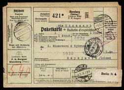 A4340) DR Selbstbucher-Paketkarte Von Eisenberg 3.5.29 Nach Island - Deutschland