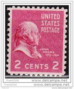 USA 1938, Presidential Issue, John Adams, 2c, MNH