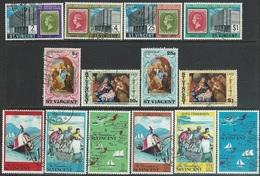 St Vincent  1971   Sc#312-5, 320-9   3 Sets Used   2016 Scott Value $4.70 - St.Vincent (...-1979)