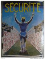 Affiche SNCF De Sécurité - 38 - Sécurité Protection Ordre Vigilance Etc..... - Transport