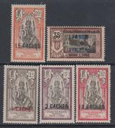 Inde N° 59/ 60 + 66 / 68  XX Partie De Série : Les 5 Valeurs Sans Charnière, TB