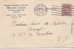 3096   Tarjeta Privada  Gent 1922 Gand Belgica - Bélgica