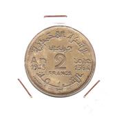 MAROC / 2 Fr / 1945 -- 1364 AH / ETAT SUP - Marruecos