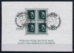 Reich: Mi Block Nr 9 Used Obl Stempel Hamburg - Deutschland