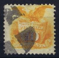 USA: 1869 Sc 116 / Mi Nr 30 Used  Some Paper On Back - 1847-99 Emissions Générales