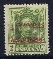 Spanish Andorra 1928  Mi. Nr 1 C Perforation 14  MH/* Falz/ Charniere - Nuevos