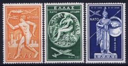 Greece: 1954  Mi 615 - 617  NATO  MNH/**/postfrisch/neuf Sans Charniere - Unused Stamps