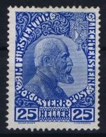 Liechtenstein: Mi Nr 3 Y MH/* Falz/ Charniere Normales Papier - Unused Stamps