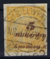 Reich: Mi Nr 327 A P U Used Obl. 1923 - Luftpost