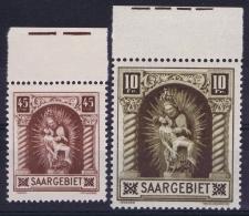 Reich: Saargebiet  Mi Nr   102 - 103 MNH/**/postfrisch/neuf Sans Charniere Randstucken - 1920-35 League Of Nations