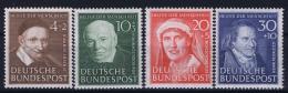 Deutschland: Mi 143 - 146 MNH/**/postfrisch/neuf Sans Charniere 1951 - Ungebraucht