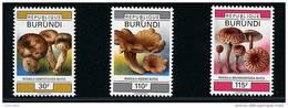 Burundi ** N° 995 à 997 - Série Courante. Champignons (III) (4 P1)