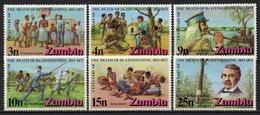 Zambie - 1973 - Yvert N° 98 à 103 ** - Centenaire De La Mort De David Livingstone - Zambie (1965-...)