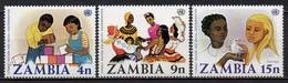 Zambie - 1977 - Yvert N° 174 à 176 ** - Lutte Contre Le Racisme - Zambie (1965-...)