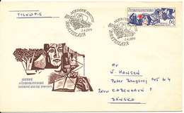 Czechoslovakia FDC 2-4-1979 With Cachet Uprated On The Backside Of The Cover And Sent To Denmark - FDC