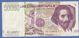 BANCANOTA Da Lire 50.000 Serie   VC   (250909) - [ 2] 1946-… : Républic